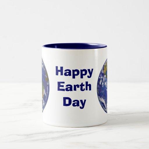 Taza feliz del arte de Eart del Día de la Tierra