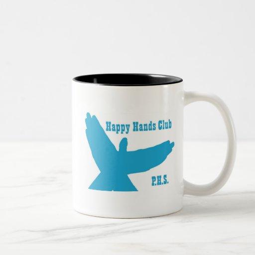 Taza feliz del club de las manos de PHS