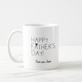 Taza feliz del día de padre
