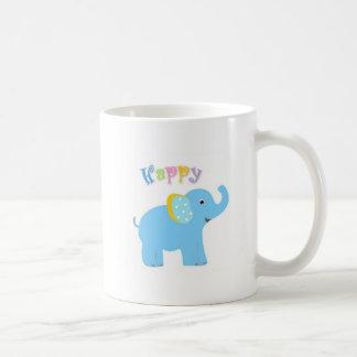 Taza feliz del elefante