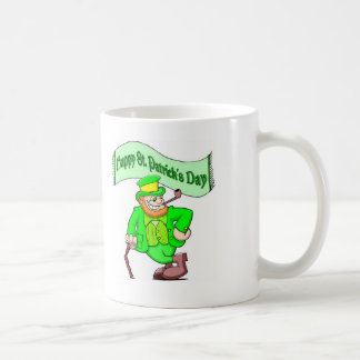Taza feliz del Leprechaun del día de Patricks del