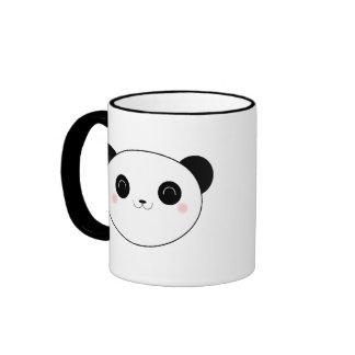 Taza feliz del oso de panda de Kawaii