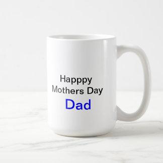 Taza feliz del papá del día de madres