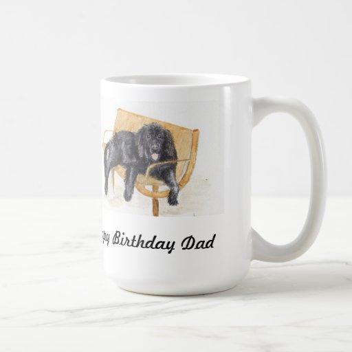 Taza feliz del perro de Terranova del papá de Birt