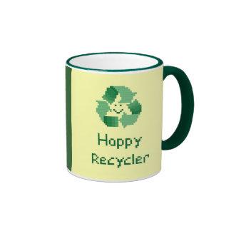 Taza feliz del reciclador