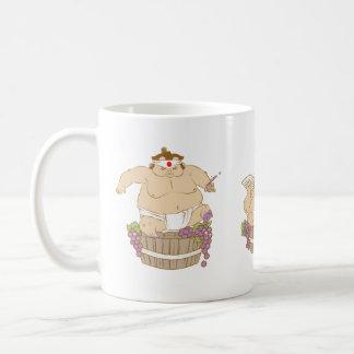 taza feliz del sumo