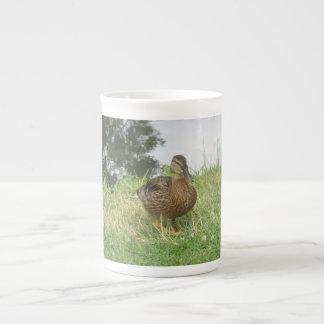 Taza femenina de la especialidad del pato del pato taza de porcelana