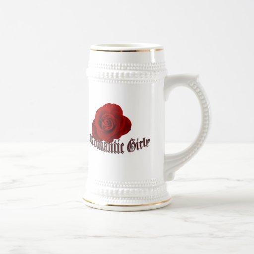 Taza femenina romántica de Stein de la cerveza