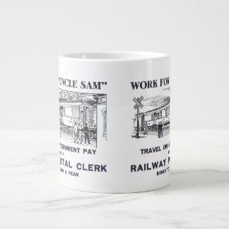 Taza ferroviaria del jumbo del vendedor postal taza grande