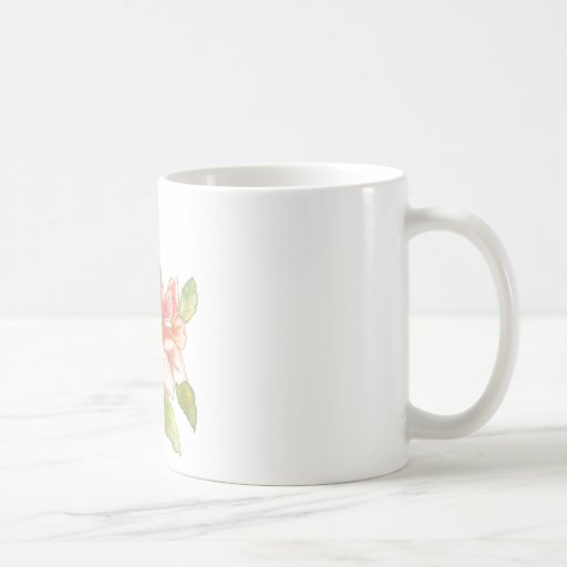 Taza, flor, acuarela