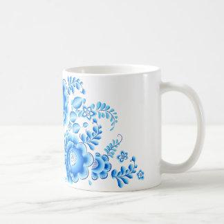 Taza floral azul 11 onzas