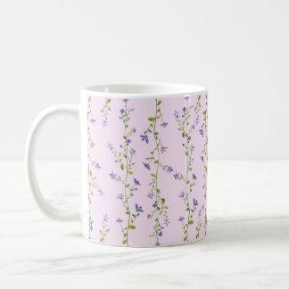 Taza floral de la acuarela