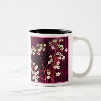 Taza floral del colorete