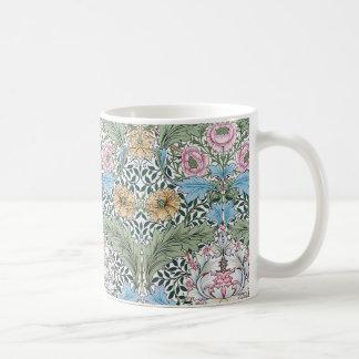Taza floral del modelo de la zaraza de William Mor