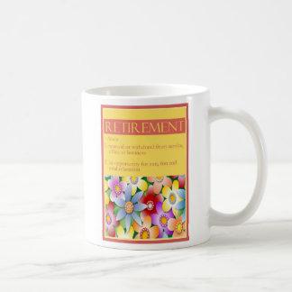 Taza floral del regalo del retiro de la diva