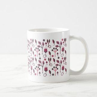 Taza floral rosada
