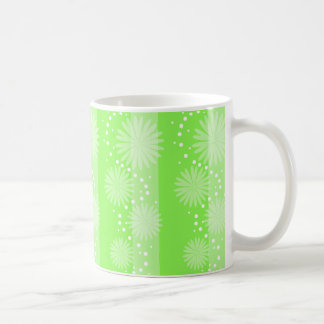 Taza - Floral sobre fondo verde