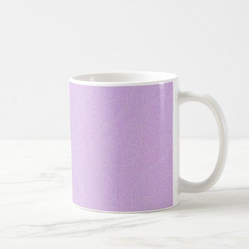 Taza floral violeta elegante del damasco