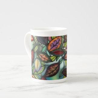 Taza floreciente del árbol taza de porcelana