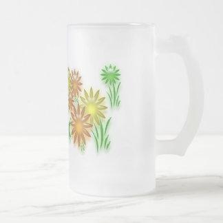 Taza - flores de neón