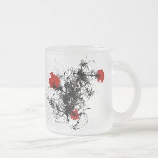 """Taza """"flores rojas """""""