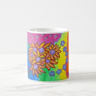 Taza - flores y colores en el momento