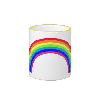 Taza fluorescente del arco iris