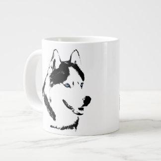 Taza fornida del perro de Sleg del husky siberiano Taza Grande