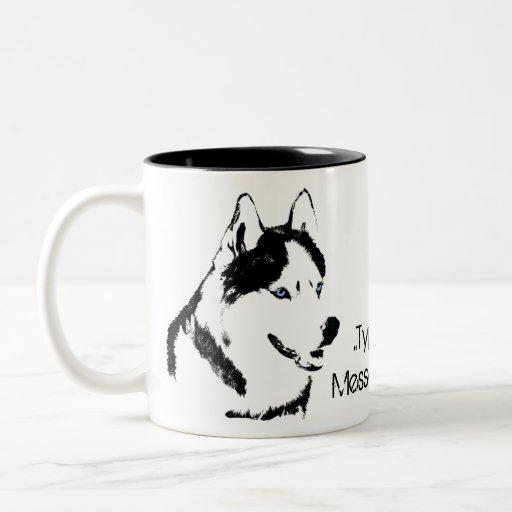 Taza fornida personalizada fornida del perro de la