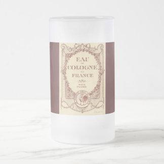 Taza francesa de Francia Fosted de la etiqueta del