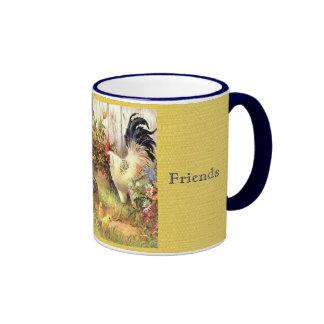 Taza francesa de la taza de café de los amigos del