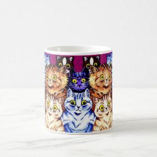Taza fresca de los gatos de Louis Wain