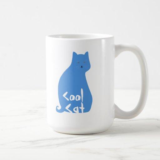 Taza fresca del gato