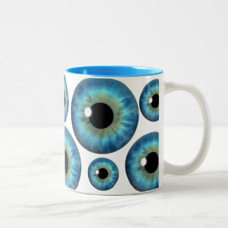 Taza fresca del personalizado del globo del ojo de