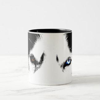 Taza fresca fornida del husky siberiano de la taza