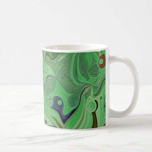 Taza fresca verde del diseñador del arte abstracto
