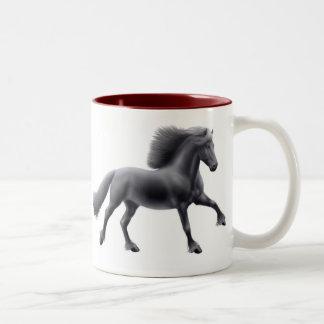 Taza frisia orgullosa del caballo