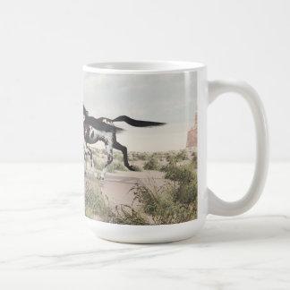 Taza galopante de los caballos