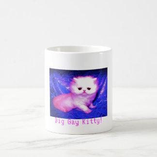 ¡Taza gay grande del gatito! Taza De Café