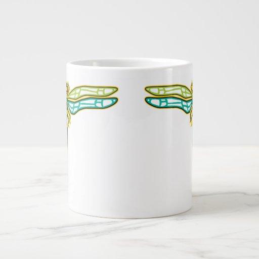 Taza gigante de la libélula taza jumbo