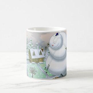 Taza gigante del muñeco de nieve