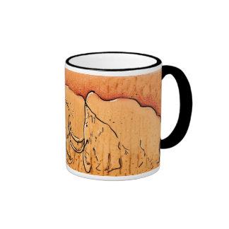 Taza gigantesca del arte de la cueva