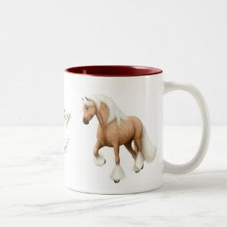Taza gitana del caballo de la mazorca