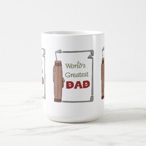 Taza Golfing del mejor papá del mundo