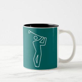 Taza - golfista
