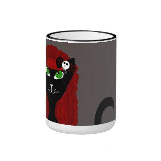 Taza gótica del gato negro