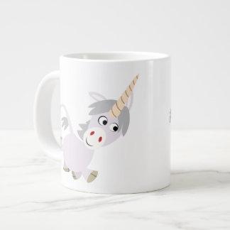 Taza graciosa linda del jumbo del unicornio del di taza grande