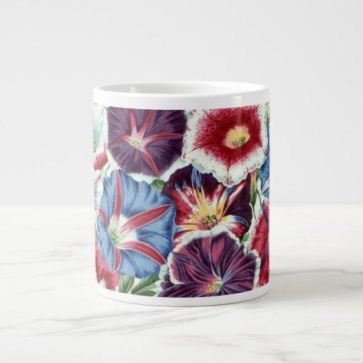 Taza grande de Moonflower de la tela de Philip Tazas Extra Grande