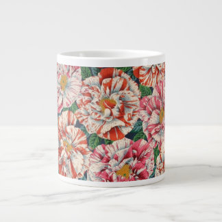 Taza grande del diseño de Rosa Mundi de la tela de