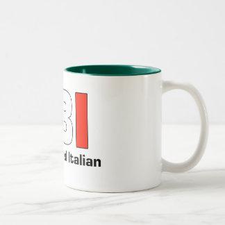 Taza grande italiana llena de la papá del FBI